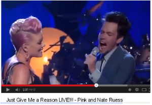 Pink & Nate Ruess1 Just give me a reason